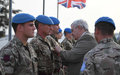 UN Honors British Soldiers Serving in Somalia