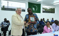 AMISOM honours outgoing Head of the United Nations Support Office in Somalia